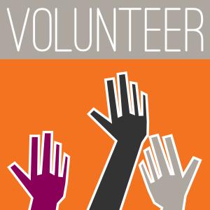 volunteer poster of hands