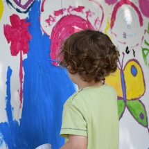 boy painting picture