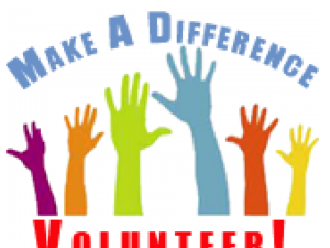 volunteer poster with hands